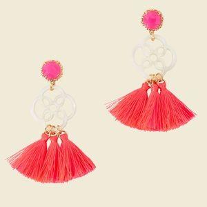 Lilly Pulitzer Sandpiper Havana Pink Earri…